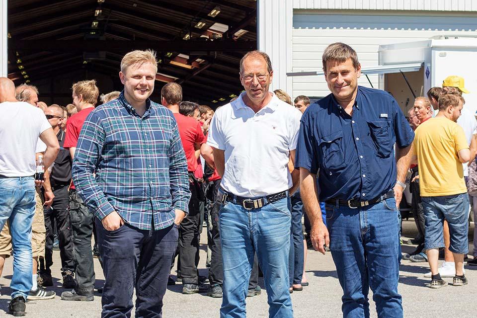 Dennis Stjerne, Finn Andersen og Frits Stjerne