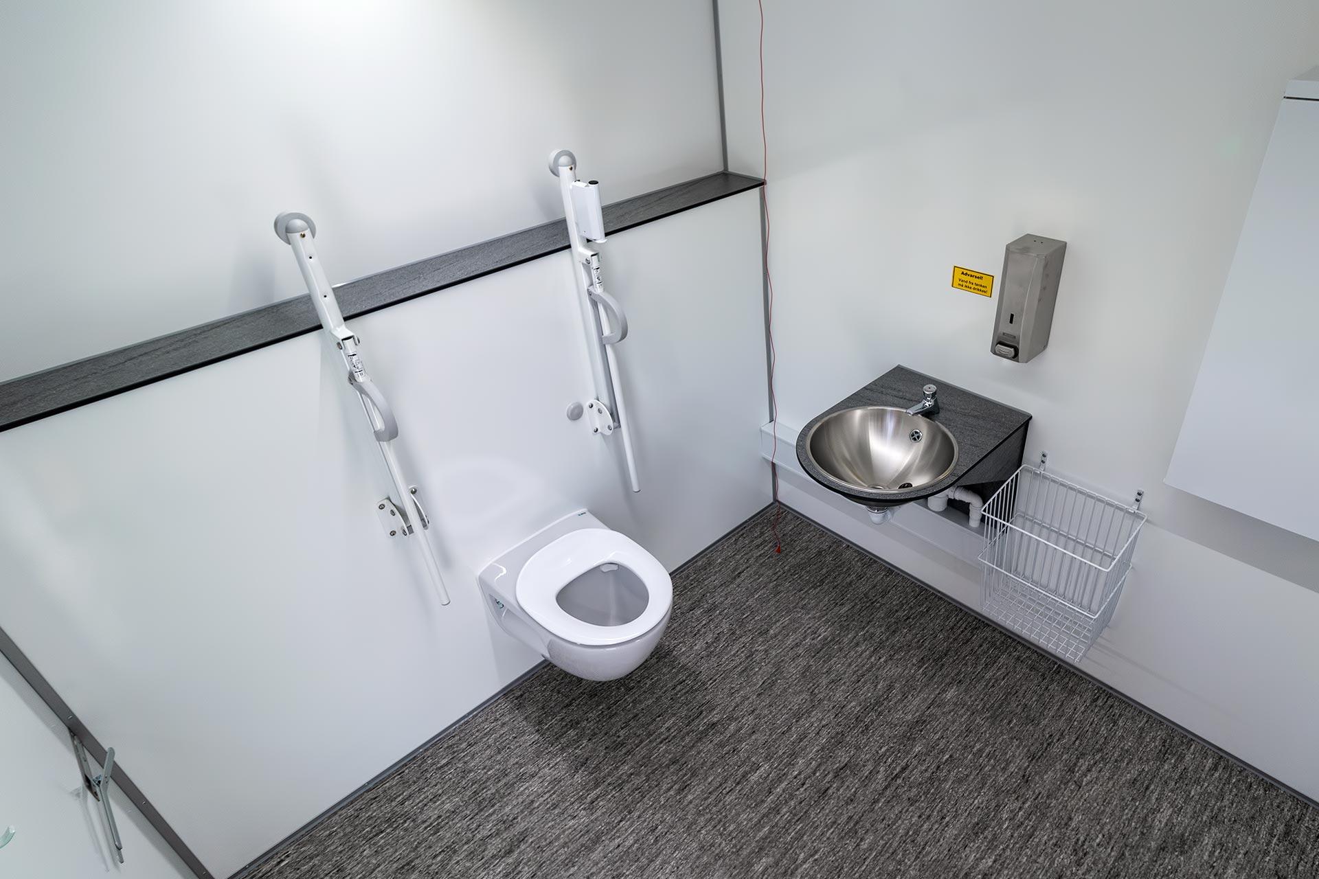 Toiletmodul indefra