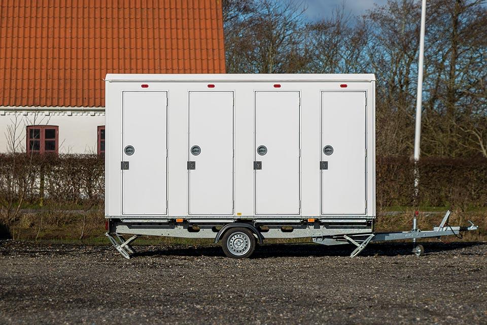 Toiletvogn med ny skyllesystem