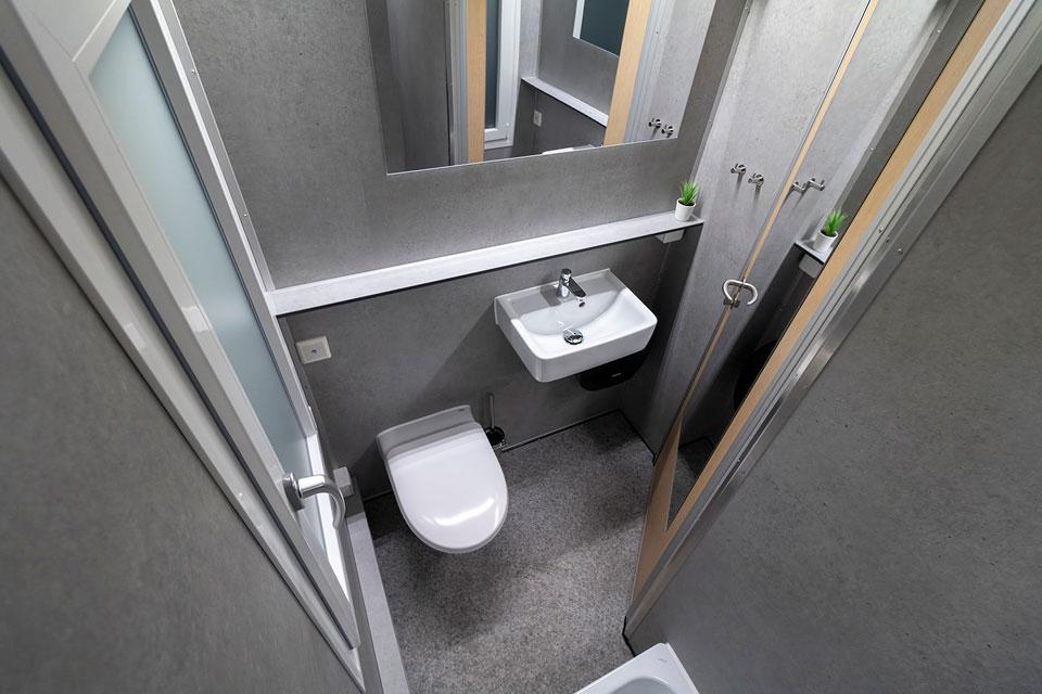 Hotelvogn badeværelse
