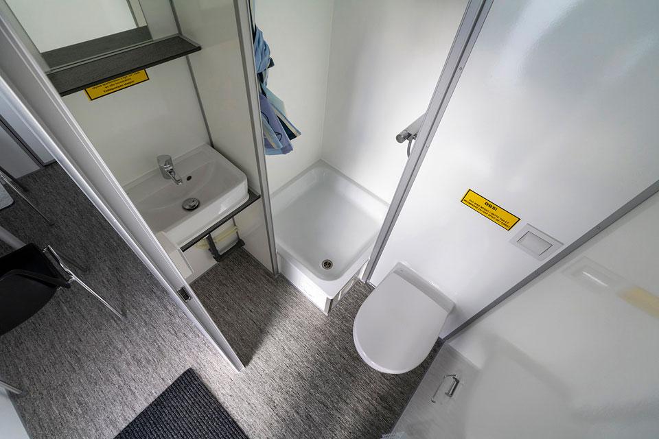Beboelsesvogn 570 badeværelse