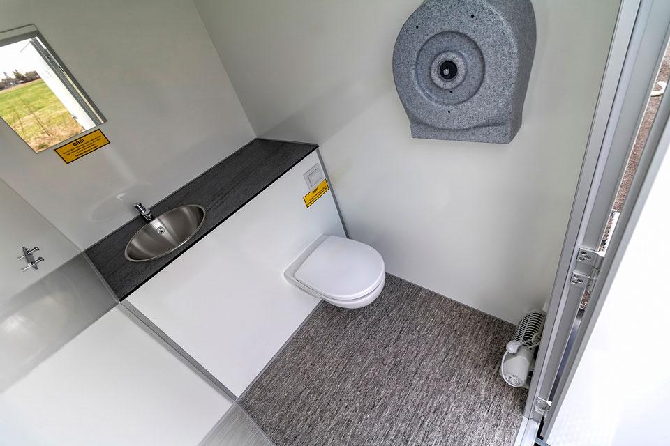 Toiletvogn 2 personer indefra