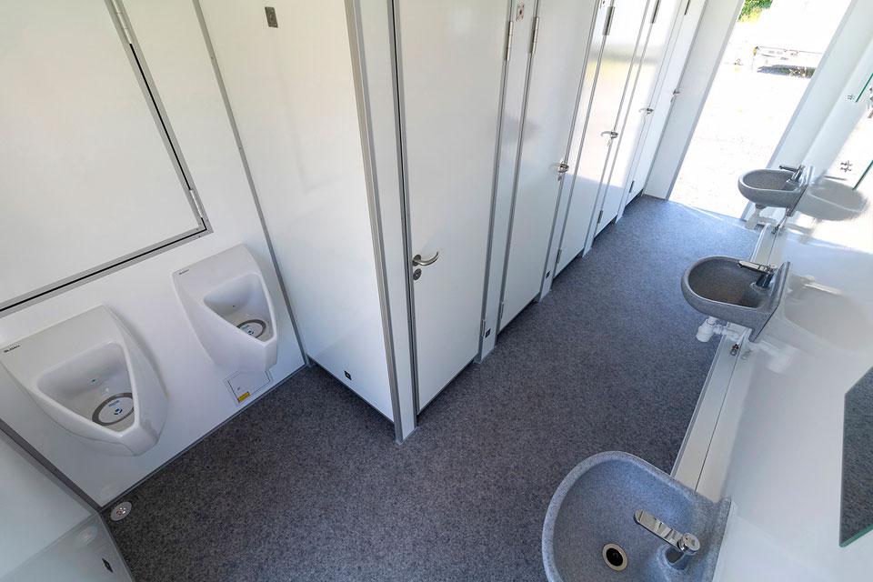 Toiletvogn 4 til 10 personer indefra