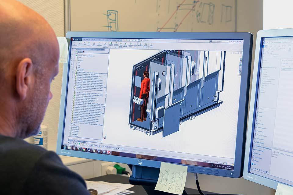 3D tegner ved computer