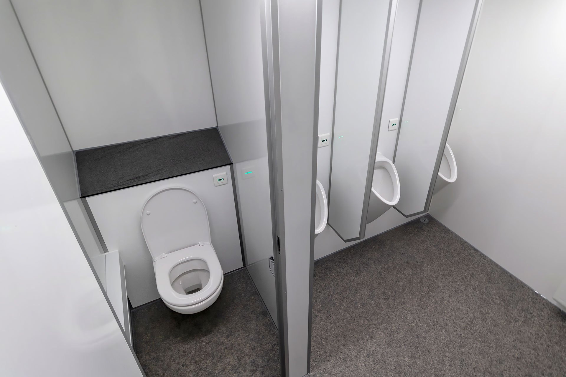 Berøringsfrit toilet