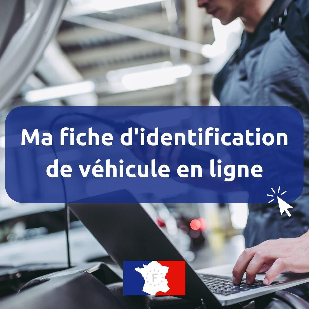 fiche d'identification de véhicule en ligne
