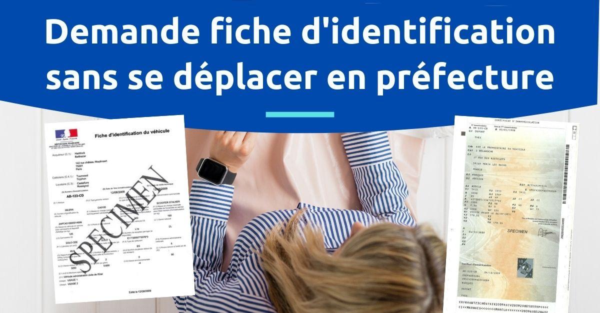 Fiche identification préfecture