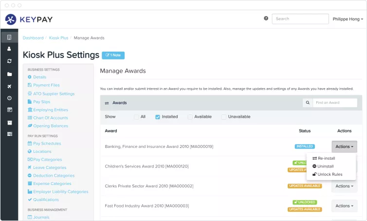 Automate your award calculations
