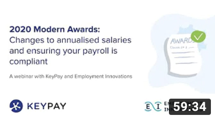 2020 Modern Awards: Changes to annualised salaries, and ensuring payroll is compliant
