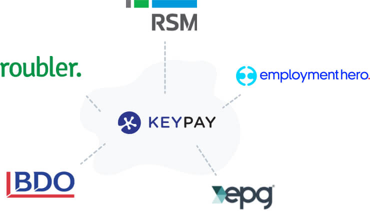 KeyPay VAR partners Roubler, RSM, Employment Hero, EPG Payroll and HR, BDO