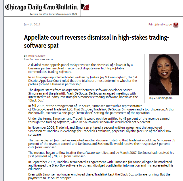 Appellate court reverses dismissal in high-stakes trading-software spat