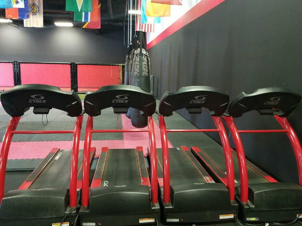 three treadmills
