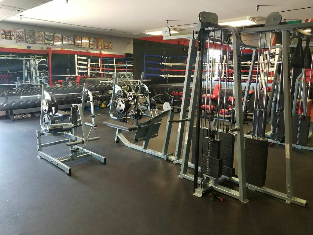 weight area of boxing gym