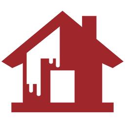 hus med maling ikon