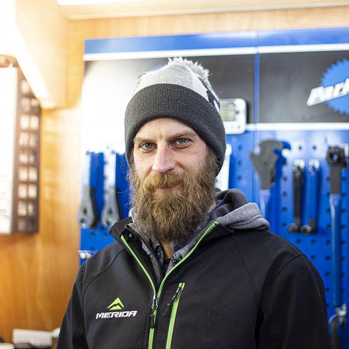 Workshop team member Dan