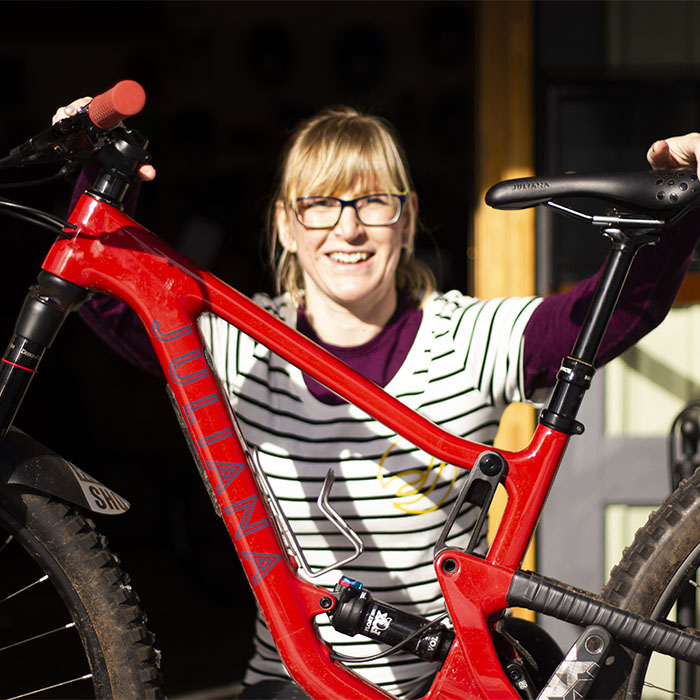Cyclist involved with Cyclehighlands, Anna