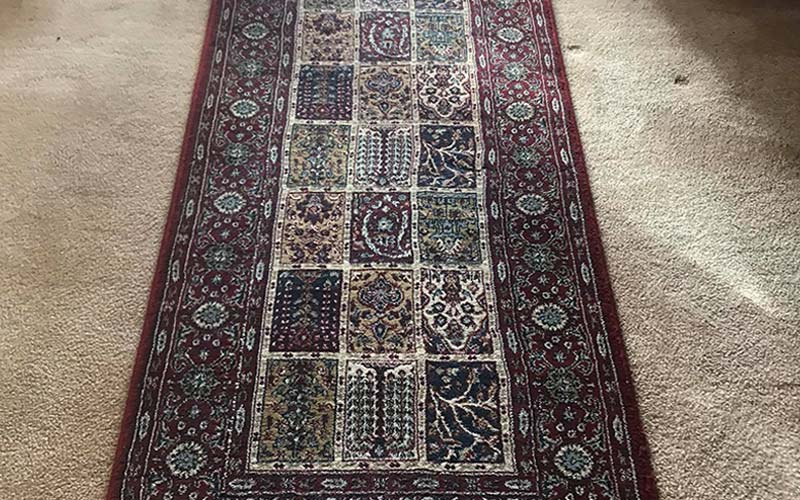 Area rug cleaning project in Battle Ground, WA