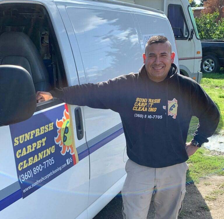 Mario, owner of Sunfresh Carpet Cleaning