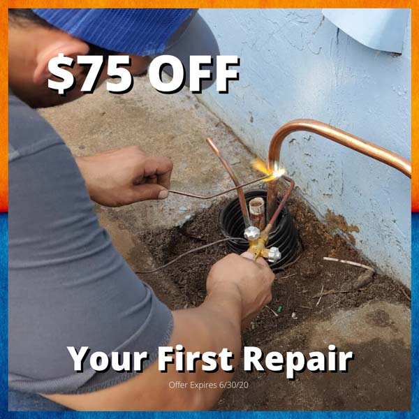 $75 off your first repair