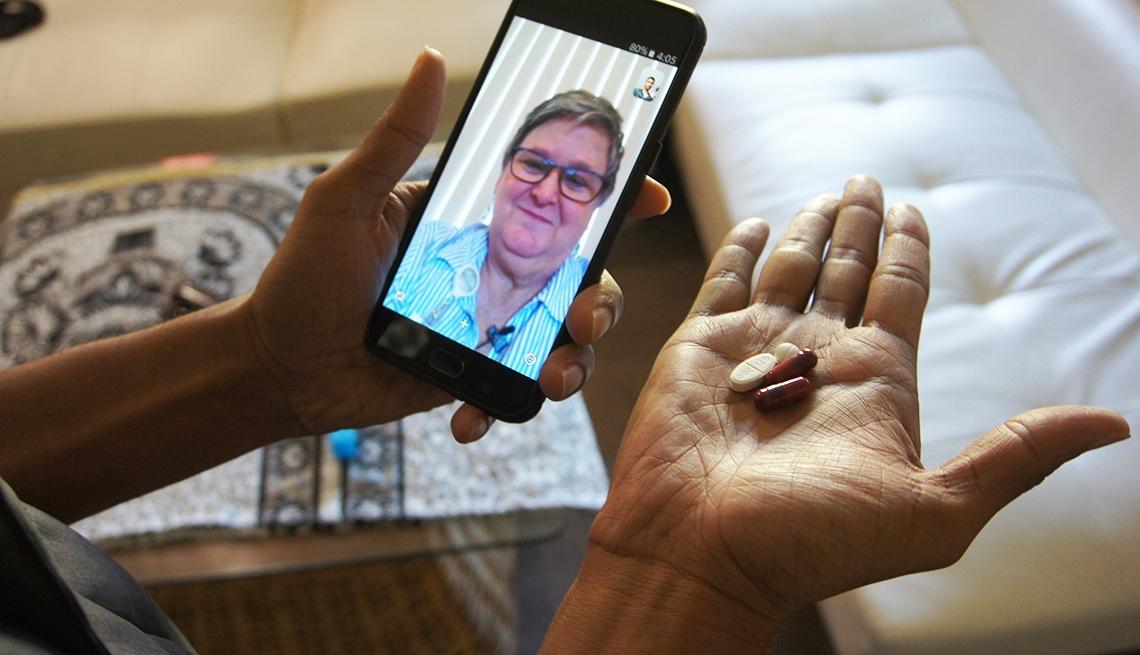 Selfie medication app
