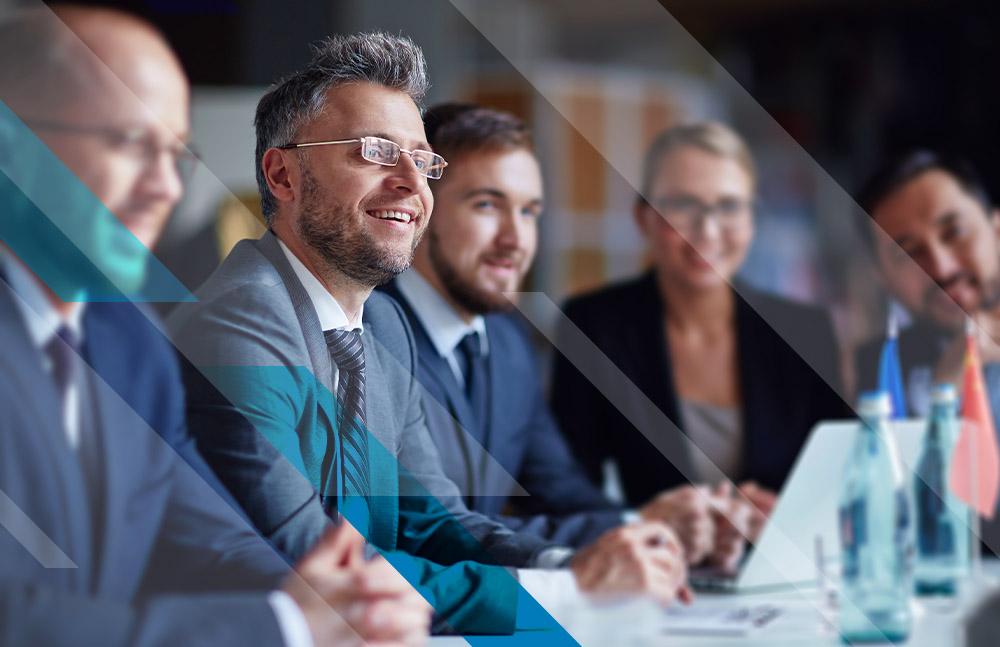 Corporate Businessman Smiling