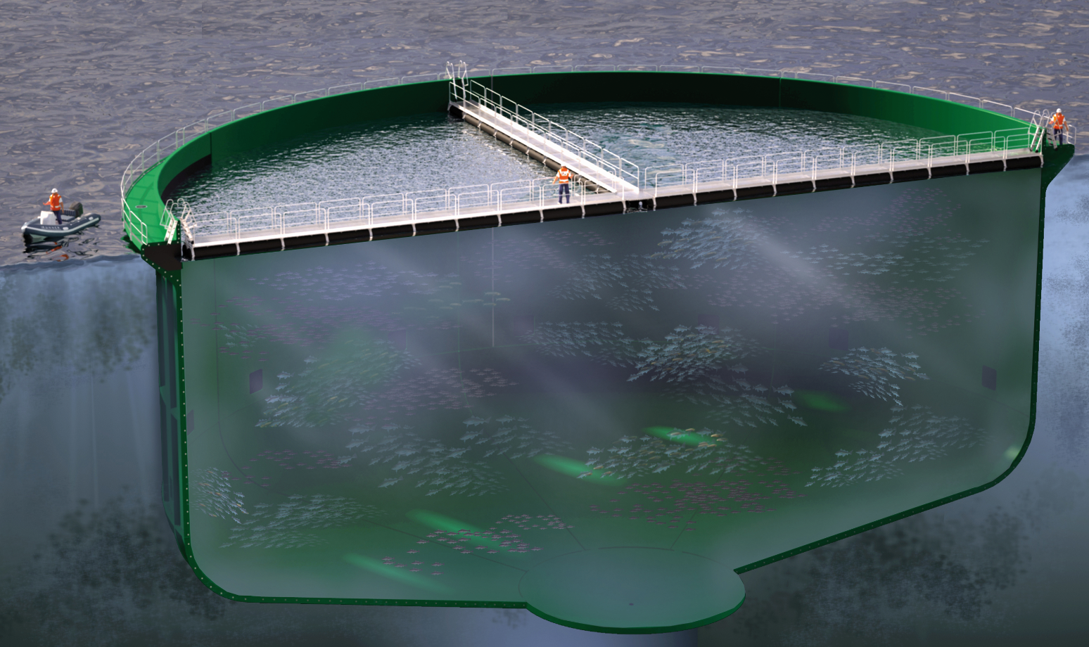 HighComps solution for offshore fish farming in aquaculture industry