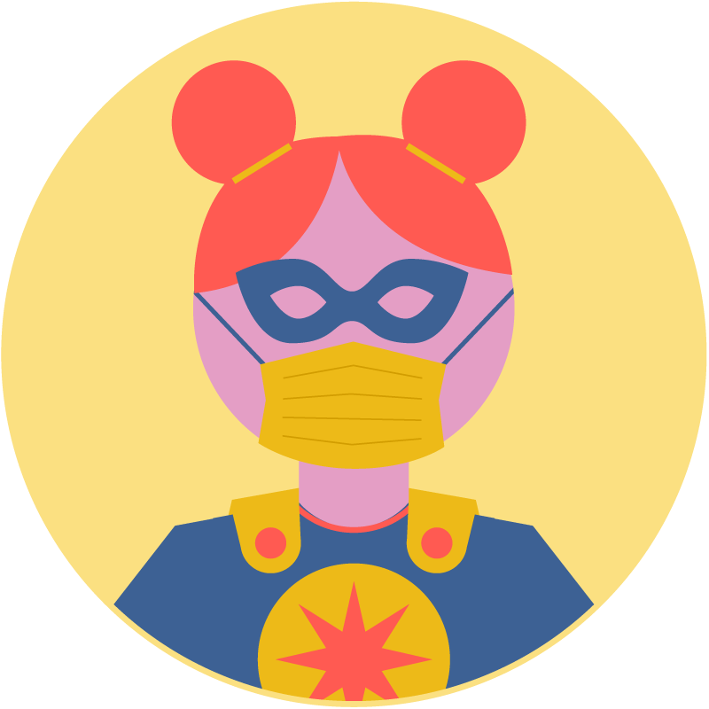 Illustration of a superhero costume