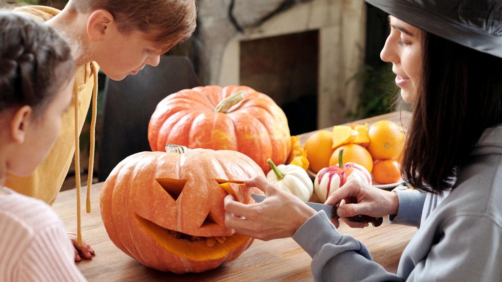 Photo of pumpkin carving