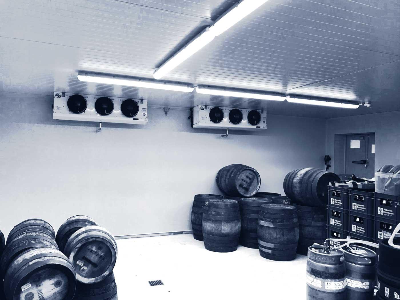 Rieger Kälte kümmert sich um Fasskühlhäuser und Lagerkühlung für Gastronomie und Industrie.