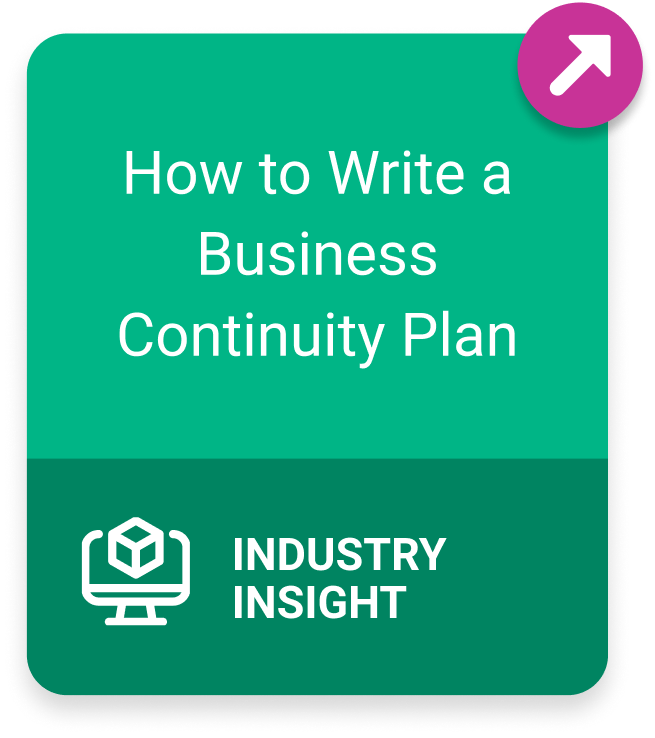 Industry Insight How to Write a Business Continuity Plan