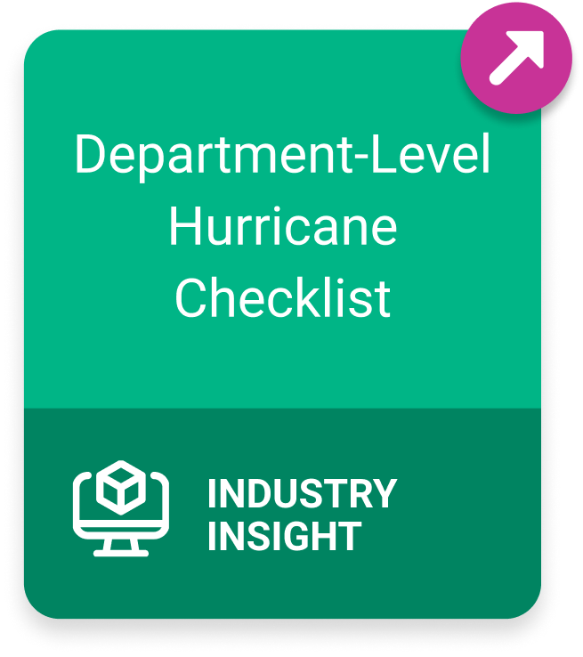 Industry Insight: Department-Level Hurricane Checklist
