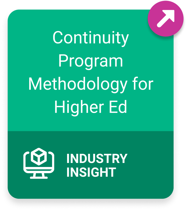 Link to Continuity Program Methodology for Higher Ed resource