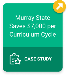 Murray State Saves $7,000 per Curriculum Cycle Case Study