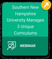 SNHU Manages 3 Unique Curriculums Webinar