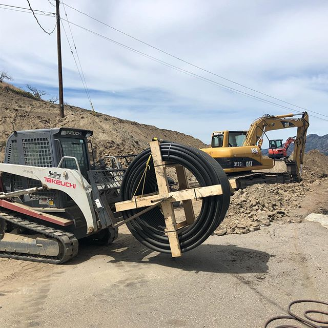 Trenching for utilities in Summerland BC