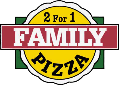 2 For 1 Family Pizza logo