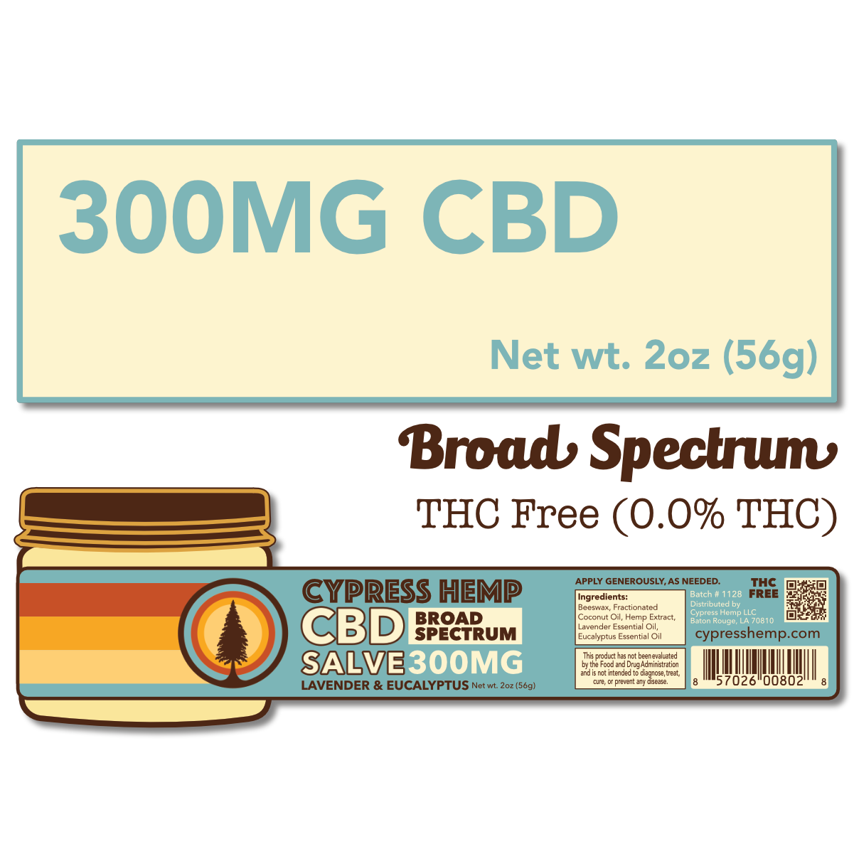 Cypress Hemp Broad Spectrum 300mg Salve