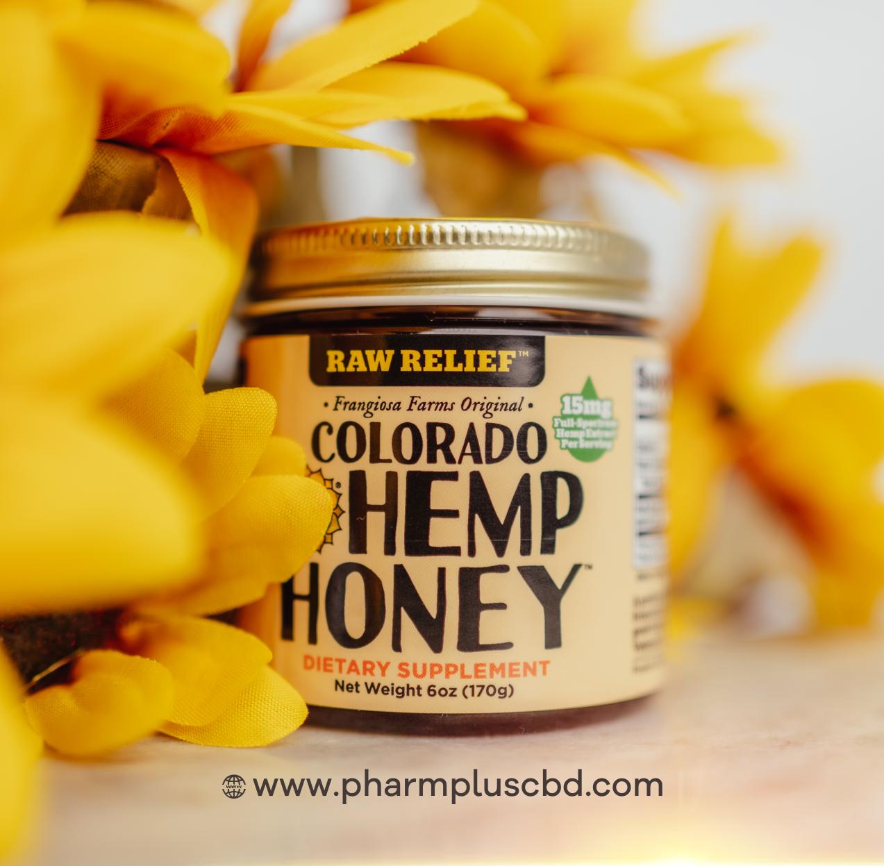 Colorado Hemp Honey Raw Relief 6oz Jar