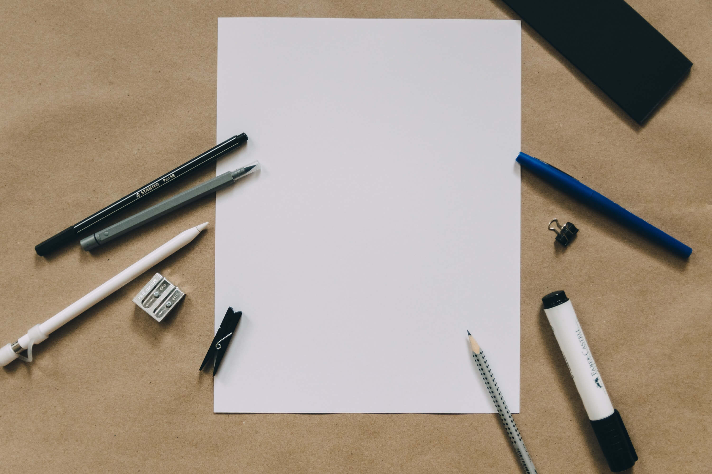 A blank paper to write a personal development plan