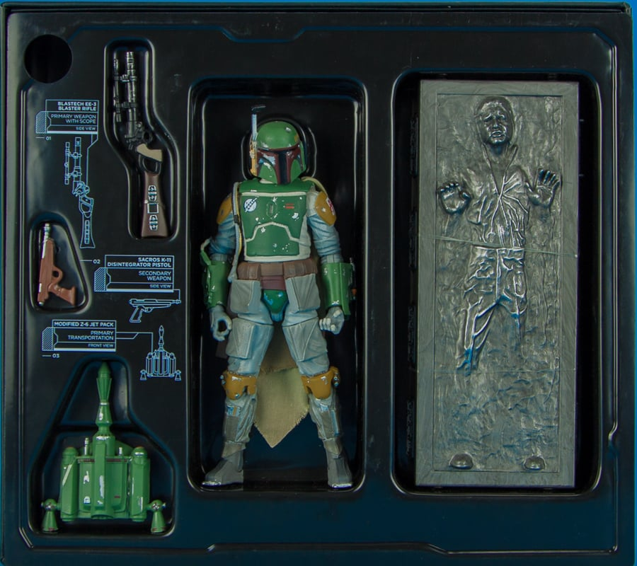 Boba Fett and Han Solo in Carbonite SDCC Exclusive Star Wars Black Series 6