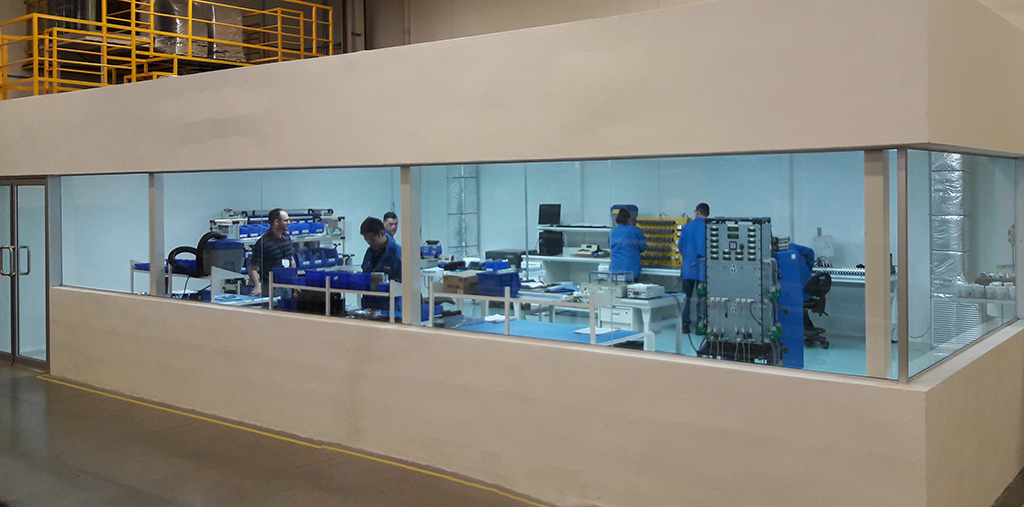 Clean Room for Manufacturing Flame Detectors
