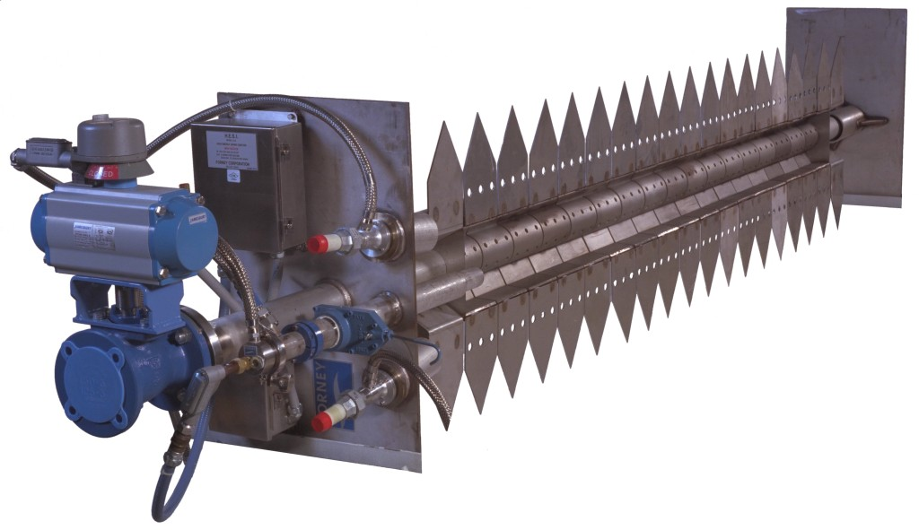 adVanatge® Duct Burner Assembly Showing Patented Triangular Diffusers