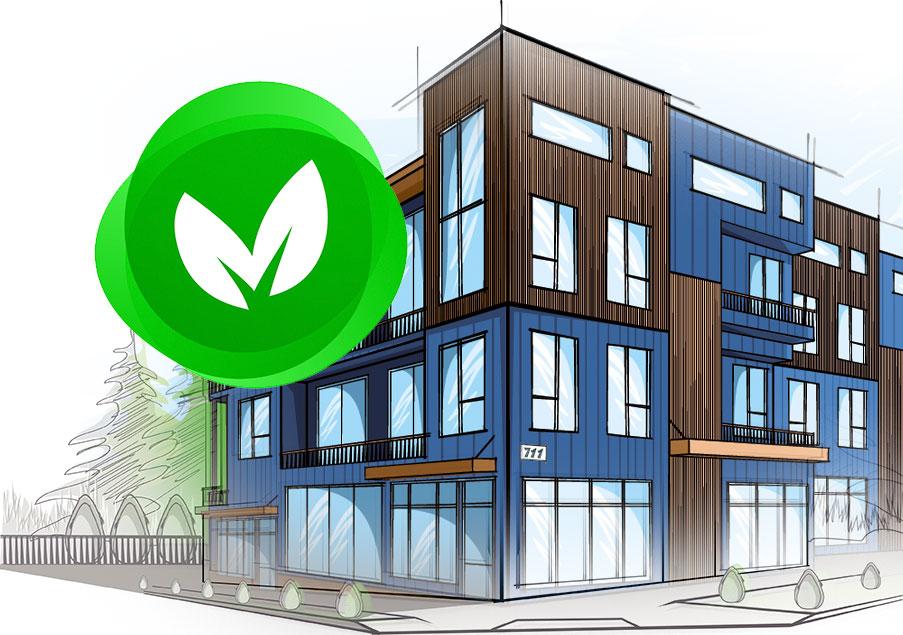 En grön fastighet med Evertherm SEW