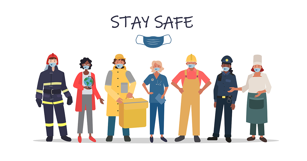 Stay Safe Vector Graphic