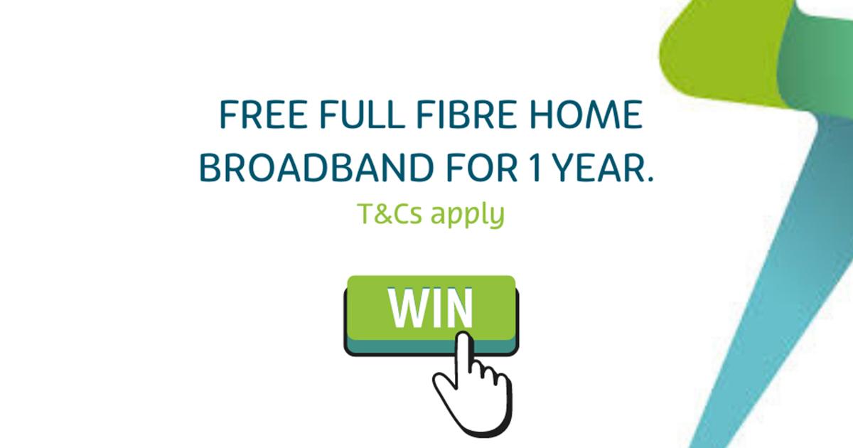 Lightning Fibre Broadband, win 1 gig for a year