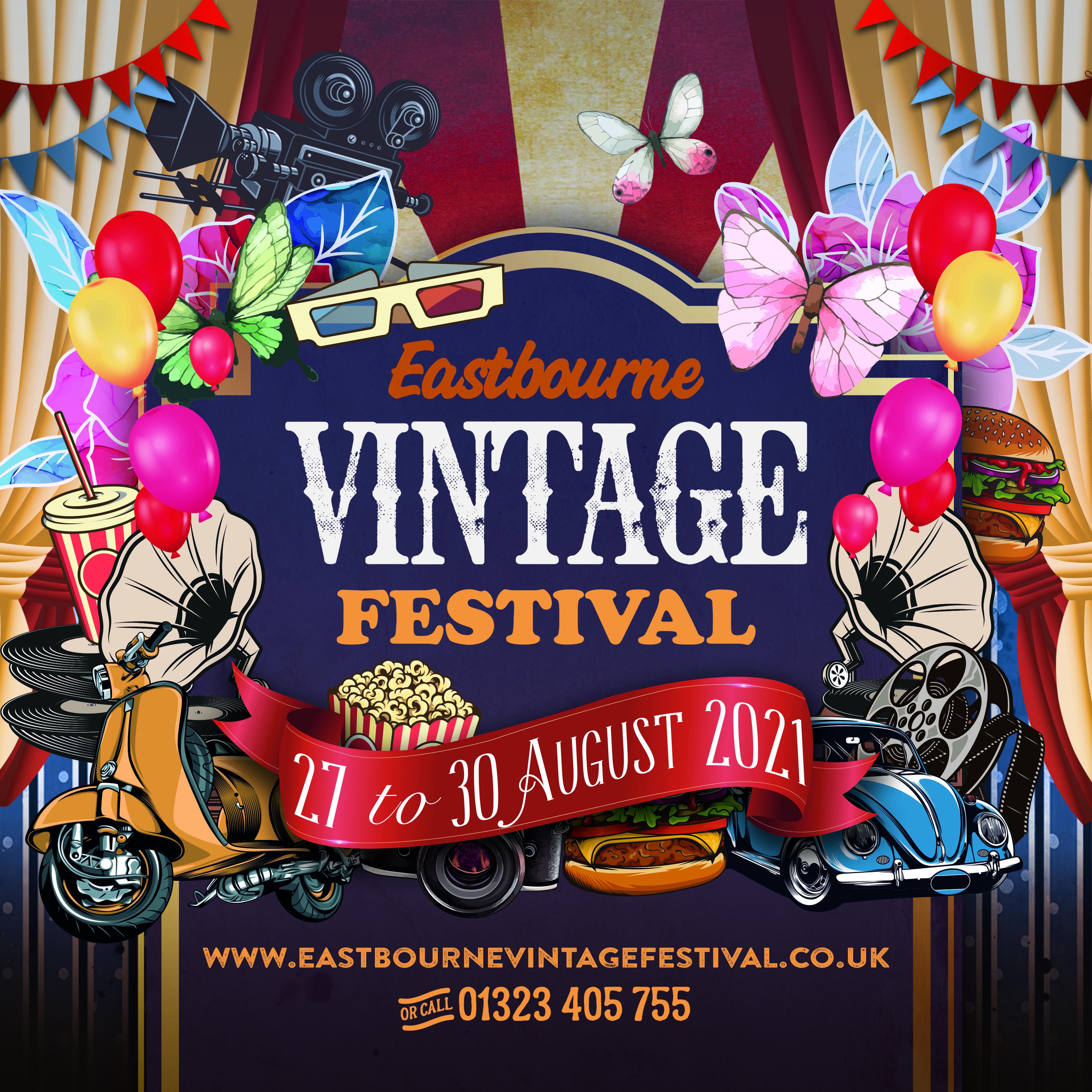 Vintage Festival Gildredge Park Eastbourne 2021 sponsored by Lightning Fibre