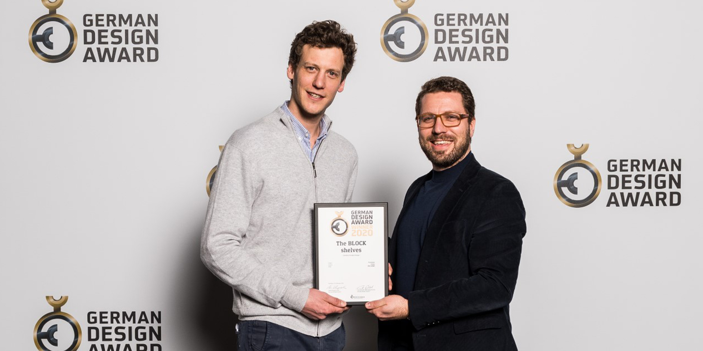 BLOCK shelving system by BIG GAME awarded a German Design award in Frankfurt, Germany.