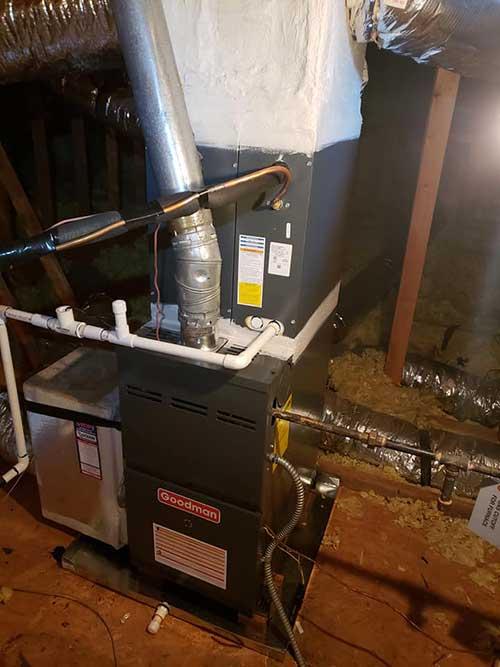 heating installation in a marietta home