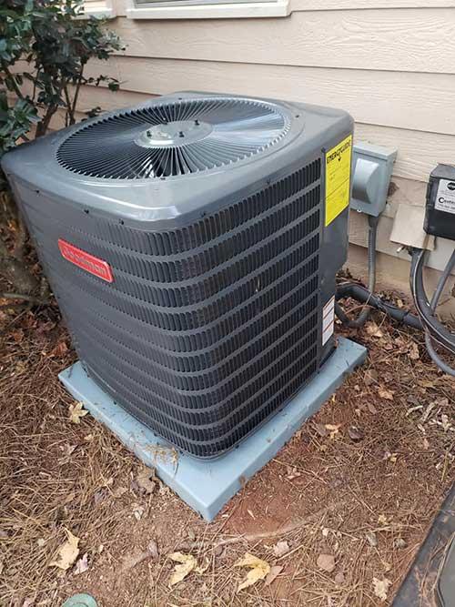 air conditioning outside a marietta home