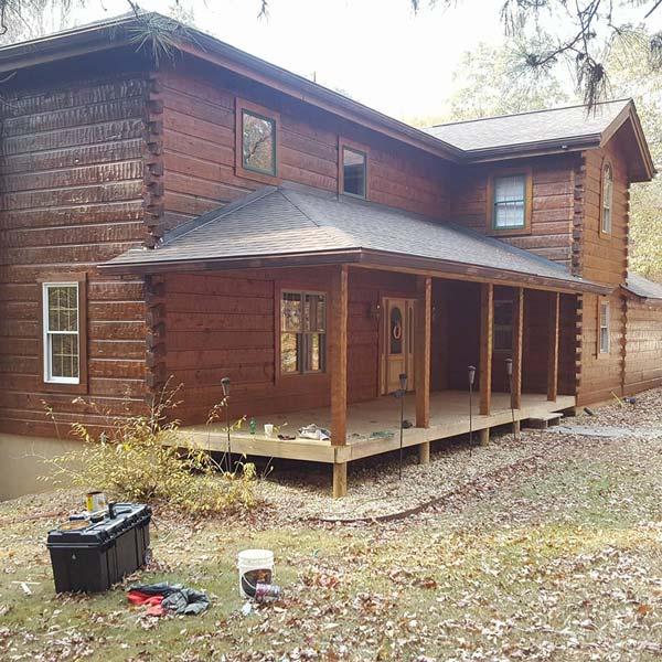 Log cabin in Jasper, GA
